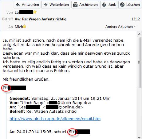 E-Mail-Etikette, Netiquette
